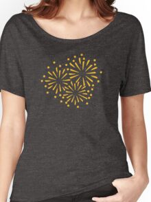 Yellow colored Fireworks Women's Relaxed Fit T-Shirt