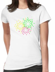 Colored Fireworks Womens Fitted T-Shirt