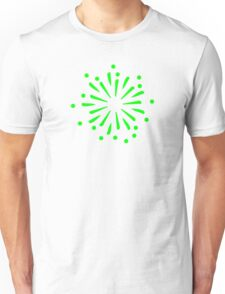 Green fireworks rocket Unisex T-Shirt