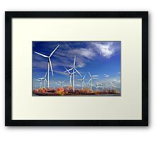 Turbines Silence Framed Print