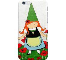 Greta the Poppy Gnome iPhone Case/Skin