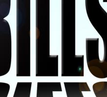 Big bills, small man Sticker