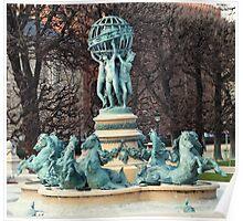 Fontaine des Quatre Parties du Monde Poster