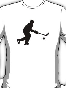 Hockey player puck T-Shirt