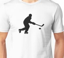 Hockey player puck Unisex T-Shirt