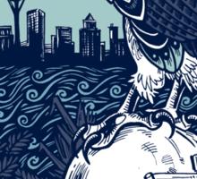 Seattle Seahawks Skyline Sticker
