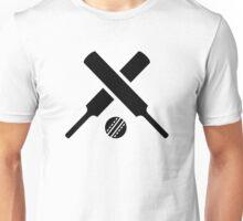 Crossed Cricket bats ball Unisex T-Shirt