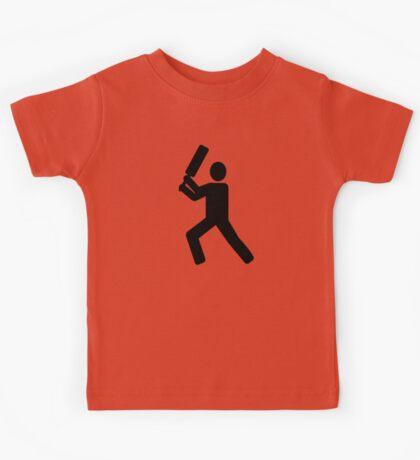 Cricket player logo Kids Tee