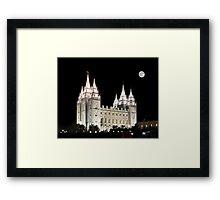 Salt Lake Temple by moonlight 20x24 Framed Print