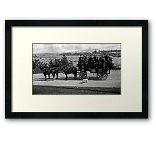 Men riding in a Tally-ho in Stanley Park Framed Print