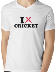 I love Cricket bats Mens V-Neck T-Shirt