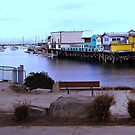 Monterey Bay Wharf and Harbor by artqueene