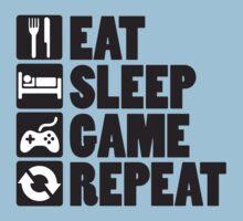 Eat, Sleep, Game, Repeat Kids Tee