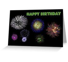 Fireworks Birthday Card Greeting Card