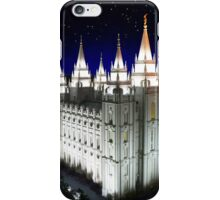 Salt Lake Temple Starry Night 20x24 iPhone Case/Skin