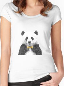 Panda Cha' Women's Fitted Scoop T-Shirt