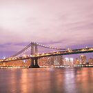 New York City - The Manhattan Bridge by Vivienne Gucwa