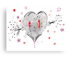 heart overflowing Canvas Print