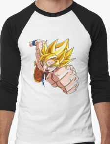 Son Goku (孫 悟空?), -Dragon Ball- Akira Toriyama-SSj1 Men's Baseball ¾ T-Shirt