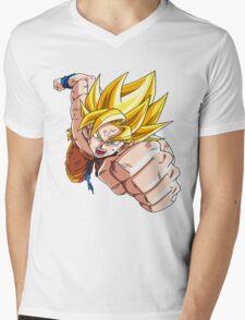 Son Goku (孫 悟空?), -Dragon Ball- Akira Toriyama-SSj1 Mens V-Neck T-Shirt