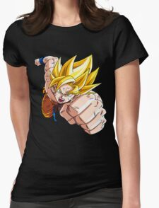 Son Goku (孫 悟空?), -Dragon Ball- Akira Toriyama-SSj1 Womens Fitted T-Shirt
