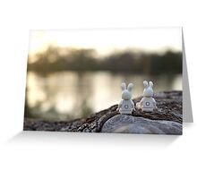 Bunny - Scenic Overlook at Sunset Greeting Card