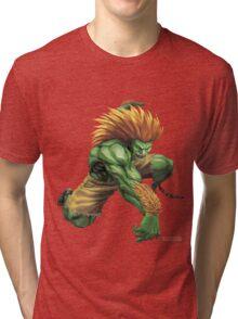 Blanka- Street Fighter- Buranka Tri-blend T-Shirt