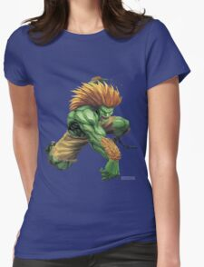 Blanka- Street Fighter- Buranka Womens Fitted T-Shirt