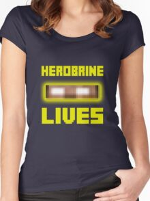 Herobrine Lives Women's Fitted Scoop T-Shirt