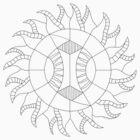 Shine On Mandala - Paint Your Own Mandala by TheMandalaLady