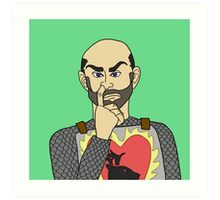Stannis the Nose-Picker Art Print