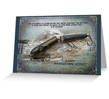 Anniversary Greeting Card - Vintage Saltwater Fishing Lure Greeting Card