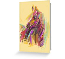 Horse True colours Greeting Card