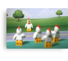 Chicken Suit Guy - Crossing the Road Canvas Print