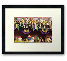 Lego Mardi Gras Framed Print