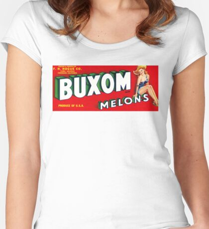How Buxom are Your Melons? Women's Fitted Scoop T-Shirt