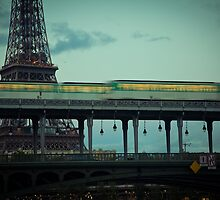 Le Metro and the Eiffel Tower by Martin Soler