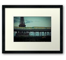 Le Metro and the Eiffel Tower Framed Print