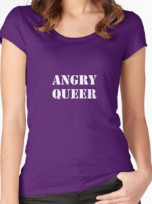 Angry Queer Women's Fitted Scoop T-Shirt