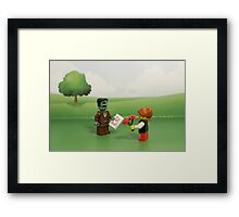Frankenstein's Monster - Making Friends Framed Print