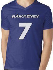 Raikkonen 7 Mens V-Neck T-Shirt