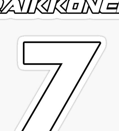 Raikkonen 7 Sticker