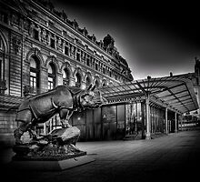 Musee D'Orsay Paris Black and White by Martin Soler