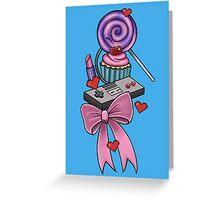 Girly Gamer Greeting Card