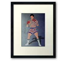 Rocky Balboa From Rocky Typography Quote Design Framed Print
