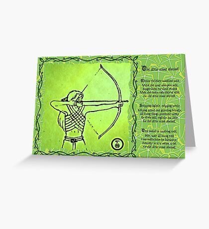 Elven Ranger Poem Greeting Card