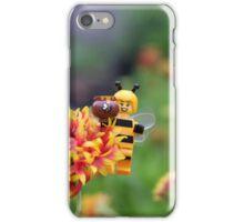 Bee Girl - Buzzing around the bee-utiful garden iPhone Case/Skin