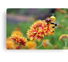 Bee Girl - Buzzing around the bee-utiful garden Canvas Print