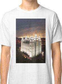 Salt Lake Temple Cloudy Sunset 20x30 Classic T-Shirt