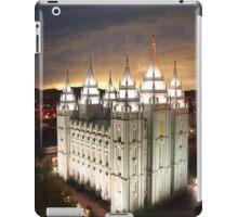 Salt Lake Temple Cloudy Sunset 20x30 iPad Case/Skin